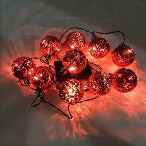 Mercury Glass Ball String Lights Battery Powered